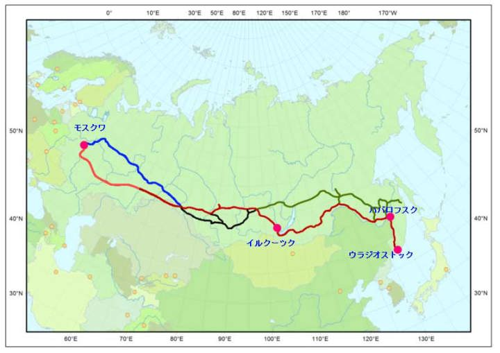 永久凍土とシベリア鉄道 永久凍土でも夏になり日照があると地表面は溶ける 凍土の溶け方 が急速に進
